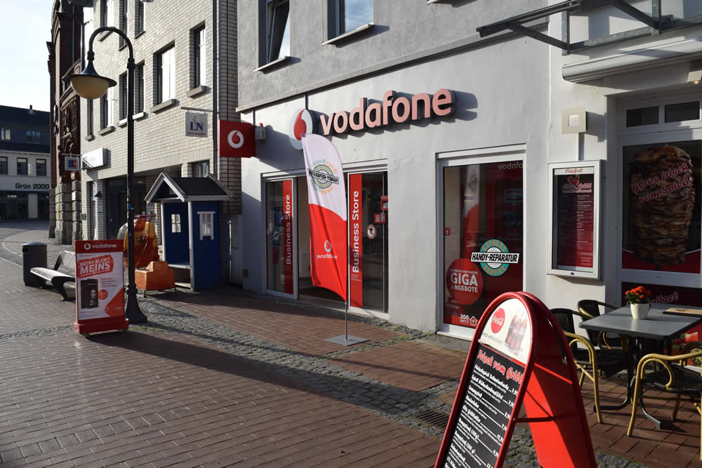 Der Vodafone Shop mit MegaRepair in Bad Segeberg.