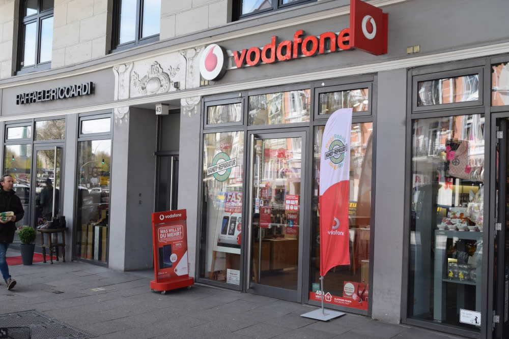 Der Vodafone Shop mit MegaRepair in Eppendorf.